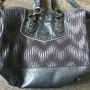 Gray Coach Handbag